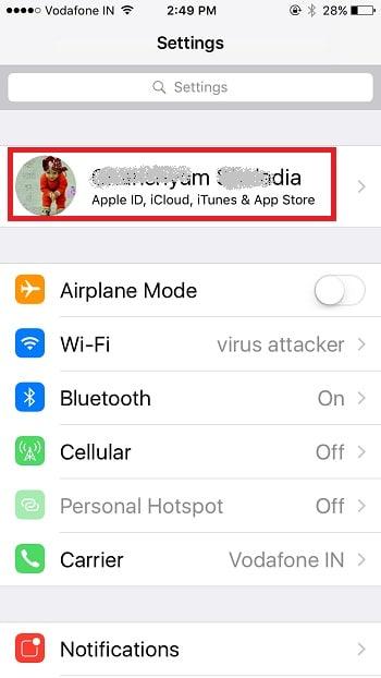 1 Settings App on iPhone