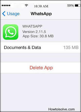 Apps whatsapp take more space