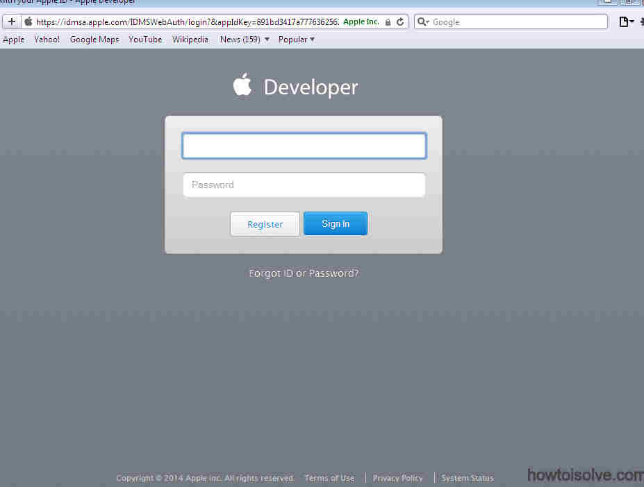 install iOS 8 in iPhone, iPad: Enter appleID and Password