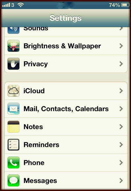 Setting Pics for Reduce Email retention time for iOS Devices