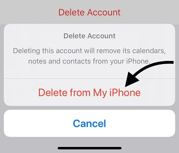 delete gmail account from iphone or iPad