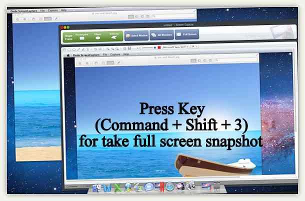 full screen screenshot in Mac OS X