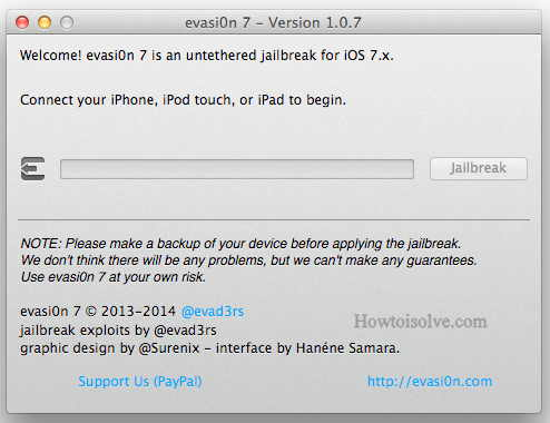 installation pics of EvasiOn 7,install cydia in iPhone
