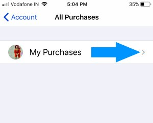3 Get Your Purchase app list on iPhone app store