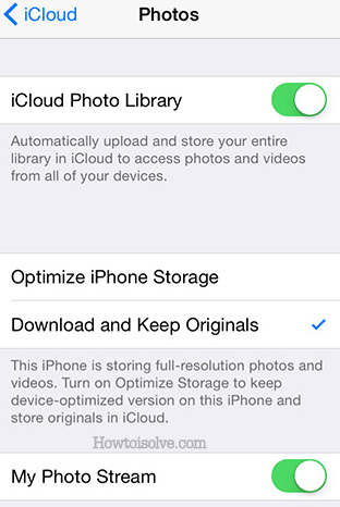 iOS 8 Beta 5 for iPhone, iClous Photos