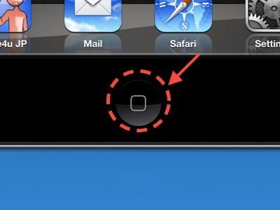 Press home button in iOS device