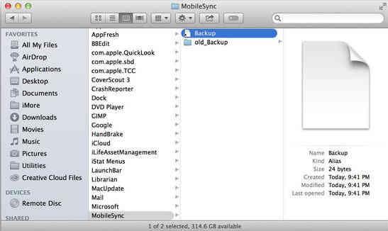 Take Symbolic Backups 2- iPhone, iPad, iPod touch backup on External drive