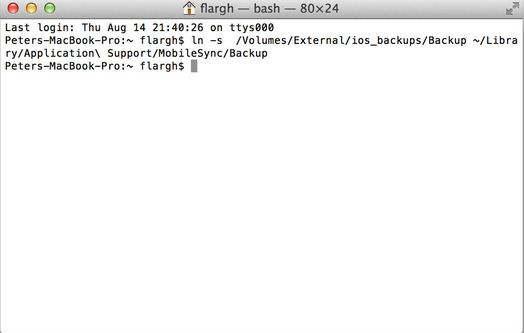 Take Symbolic Backups - iPhone, iPad, iPod touch backup on External drive