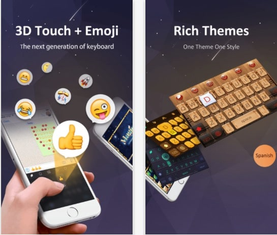 1 GO Keyboard Third party keyboard for iPhone