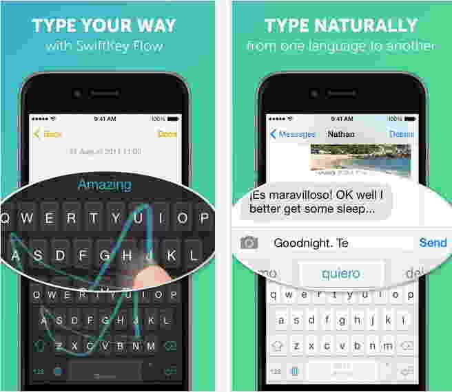 SwiftKey - Third party keyboards for iPhone 6 and iPhone 6 Plus