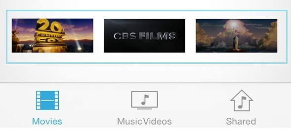 Movies in your iOS device which stream from iTunes