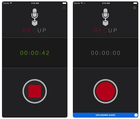 RaceUp Audio Recorder for iPhone