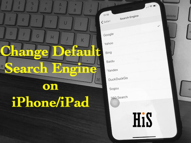 Change Default Search Engine in Safari in iOS on iPhone iPad iPod touch