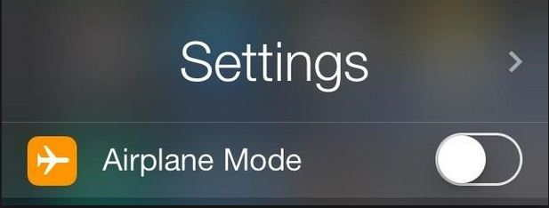 Disable/ Turn off Airplane mode under the setting