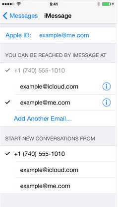 Enable Wi-Fi update for iMessage and Facetime