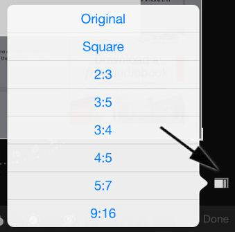 Set aspect ratio to crop image directly