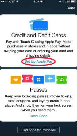 from here you can add apple pay setup in app