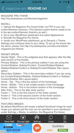 8 View file from Zip folder on iPhone withouth Unzip