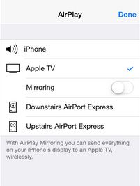 See list of AirPlay supported device in iPhone and iPad