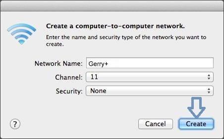 Set Mac password for sharing