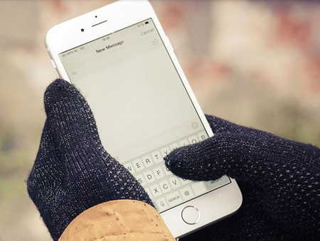 Smart touch screen gloves for access iPhone and iPad