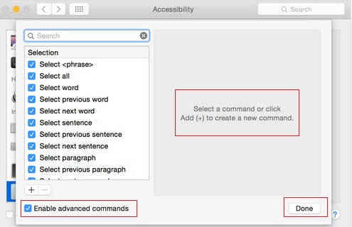 you can add advance command for easily control you Mac