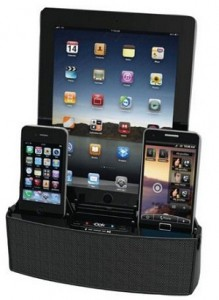 Dok built in up to 3 device compatible speaker dock 2015