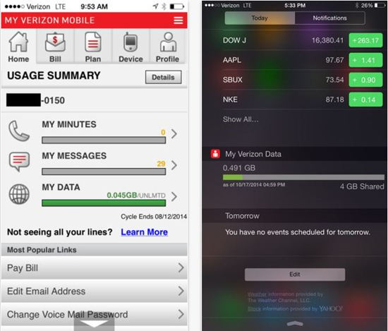 Official Verizon app for iPhone, iPad and Android mobile