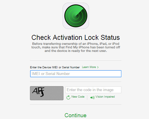 Check Activation Lock of Phone, iPad or iPod touch