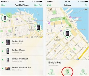 Turn on iOS device in lost mode from App remotely