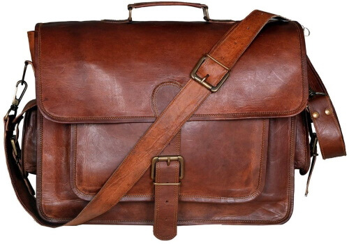 Handmadecraft Smart Leather Bag for College and office