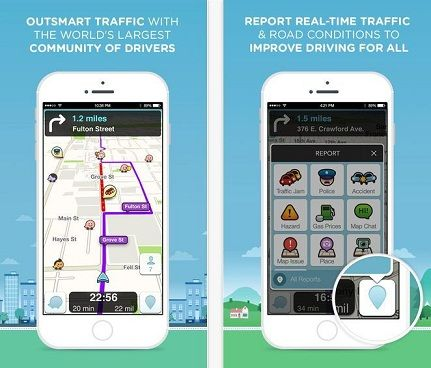 Waze Travel guide apps in iPhone compatible with All version