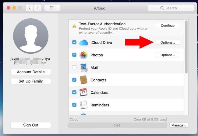 1 Mac App Access to use icloud on Mac
