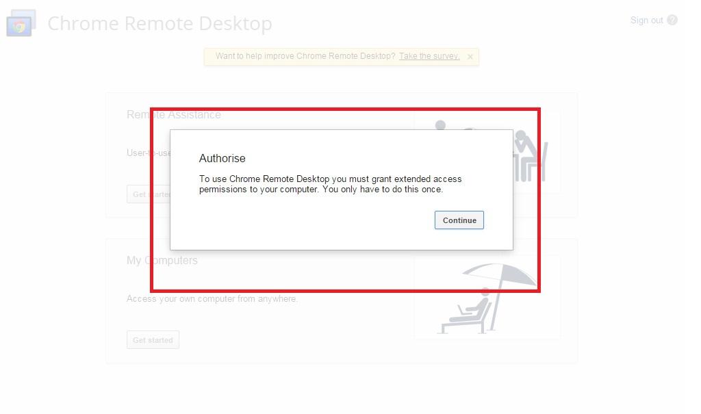 Access remote desktop on iPhone using chrome app
