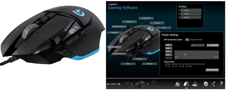 Logitech gaming mouse for Mac and PC