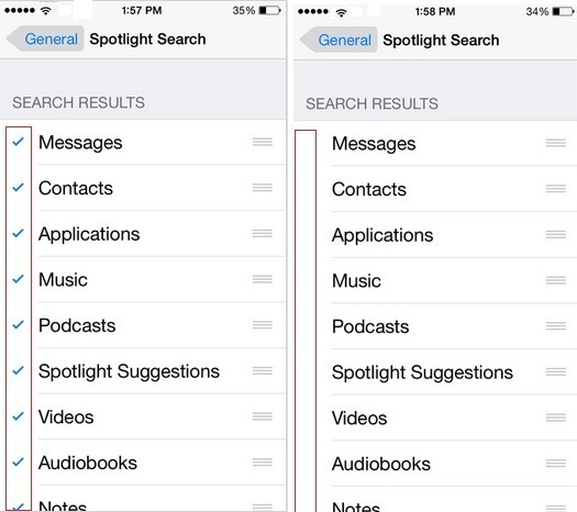 How to Stop or disable spotlight search on my iPhone, iPad or iPod Touch, iOS 8, iOS 9, Turn ON /Off Spotlight on iOS 8