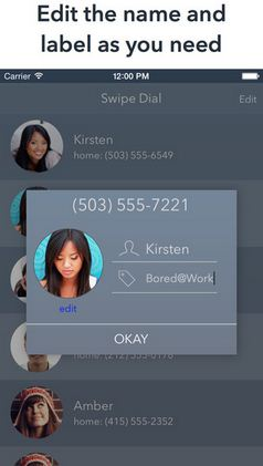 Update contacts in notification center