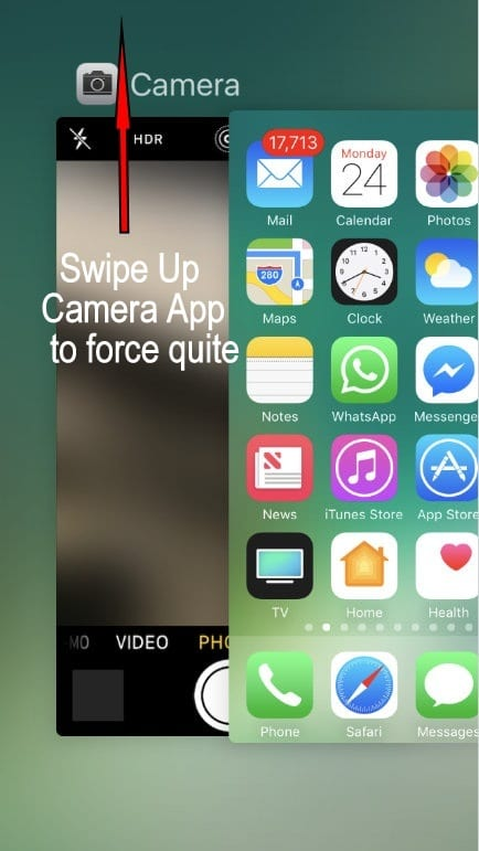 Force close app on iPhone iOS 10