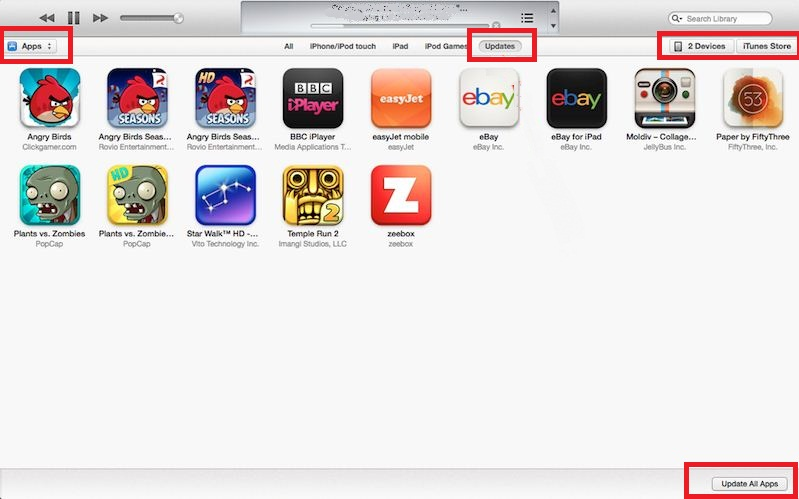 Update iPhone apps through iTunes without WiFi or Data