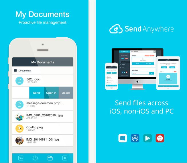 Send Anywhere Best File transfer app for iPhone