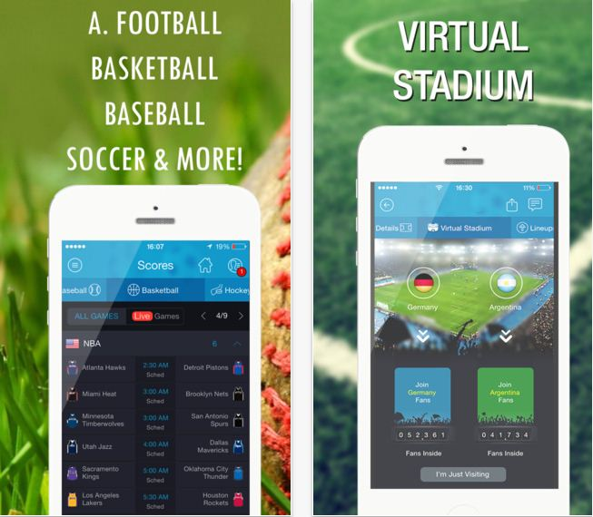365Scores App for NFL and other sports update