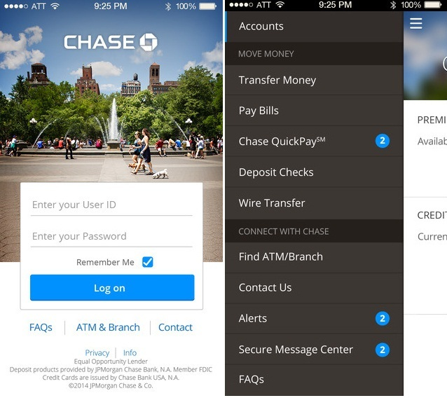Top USA Bank iPhone/ iPad apps At a Glance