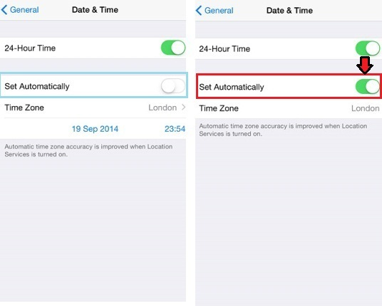 Set Date and Time on iPhone 6