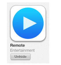 unhide purchased apps on iPhone how to