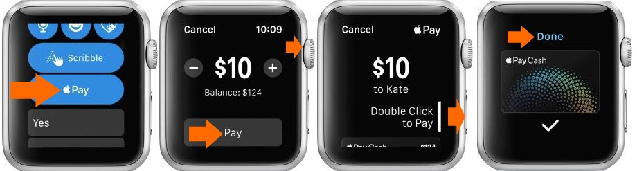 1 Send Apple Pay Cash on iMessage on Apple Watch