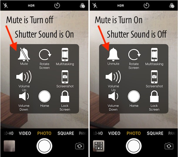 1 Turn off Camera Shutter sound using Assistive Touch