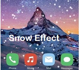 Snow fall effect on iPhone, iPad and iPod touch
