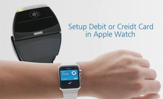 setup debit or Credit Card on Apple Watch