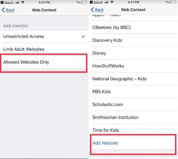 Block unwanted content on iPhone XS Max XR X 8 Plus 7 Plus 6S Plus iPad Pro iPad Mini Air