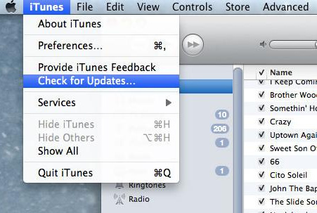 update iTunes on Mac OS X Yosemite how to manually